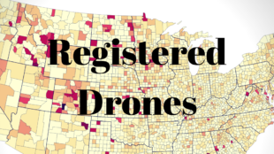 drones registered with FAA data